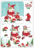 It's snome time 3D decoupage & topper set - Craft Consortium_