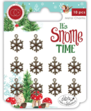 It's snome time Metal charms Sneeuwvlok - Craft Consortium_