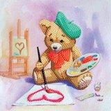 Crystal Card kit diamond painting Teddy 18 x 18 cm