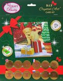 Christmas Crystal Card kit diamond painting Labrador Pup 18 x 18 cm
