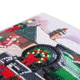 Christmas Crystal Card kit diamond painting Santa Express 18 x 18 cm