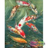Full 5D Diamond Painting Koi Vis Karper 45 x 60 cm