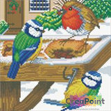 Crystal Art kit Hungry Birds (full) 30 x 30 cm