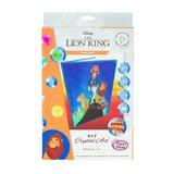 Crystal Art kit Notebook schrift Disney Pride Rock Lion King 26 x 19 cm