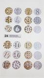 Paper Poetry Adventskalender stickers goud/zilver 24st._