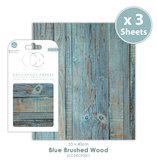 Decoupage papier Blue Brushed Wood - Craft Consortium_