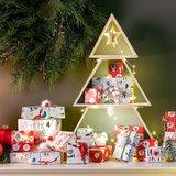 Kerstboom hout 3 delig_