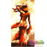 Schilderen op nummer Dame op strand 40 x 80 cm zonder frame_