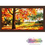 XL Schilderen op nummer Boom herfst 50 x 100 cm zonder frame_