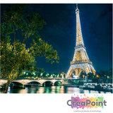 Schilderen op nummer Eiffeltoren bij nacht 50 x 40 cm zonder frame_