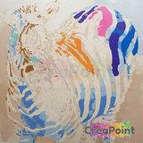 Schilderen op nummer Zebra in kleuren 50 x 40 cm zonder frame_