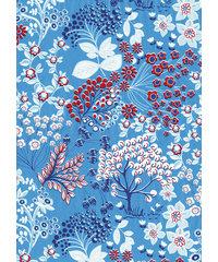 Decopatch papier grijsblauw decoratieve bloemenprint  OP=OP