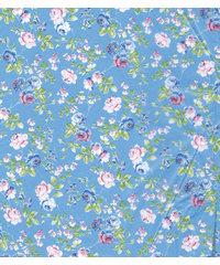 Decopatch papier blauw/roze romantische bloemenprint  OP=OP