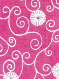 Decopatch papier rood decoratieve bloemenprint OP=OP