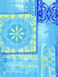 Decopatch papier blauw oriëntaals*