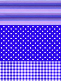 Decopatch papier paars strepen, stippen en blokjes OP=OP