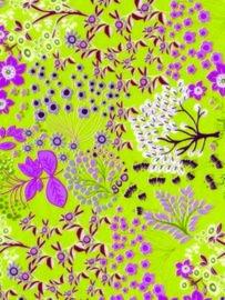 Decopatch papier groen decoratieve bloemenprint OP=OP