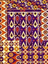 Decopatch papier bruin Afrikaanse print*