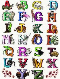 Decopatch papier Alfabet letters met dieren OP=OP