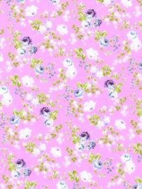 Decopatch papier roze romantische bloemenprint OP=OP