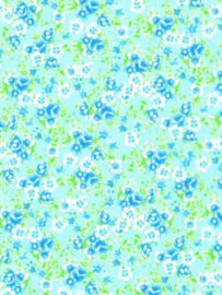 Decopatch papier blauw/wit romantische bloemenprint OP=OP