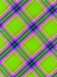 Decopatch papier Schotse ruit groen*