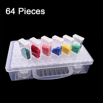 Opbergdoos 64 Bakjes Diamond Painting tresors rhinestones
