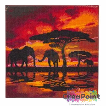 Crystal Art kit Elephant silhouette 30 x 30 cm