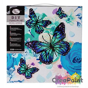Crystal Art kit Orchids & Butterflies 30 x 30 cm