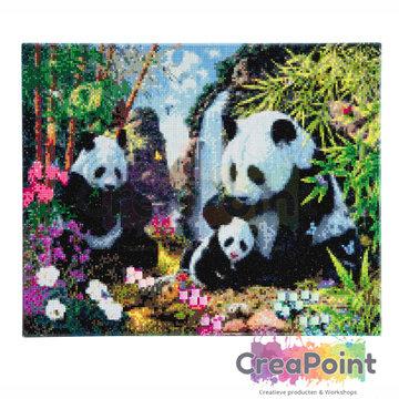 Crystal Art kit Panda Valley 40 x 50 cm diamond painting