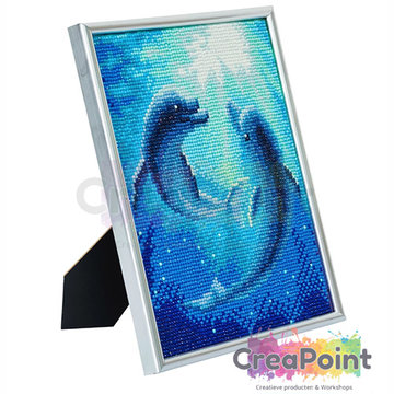 Crystal Art kit Dolphin Dance 21 x 25 cm