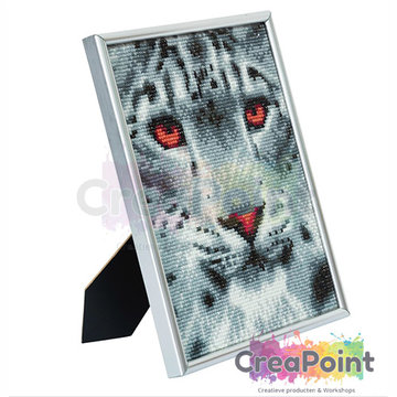 Crystal Art kit Snow Leopard 21 x 25 cm