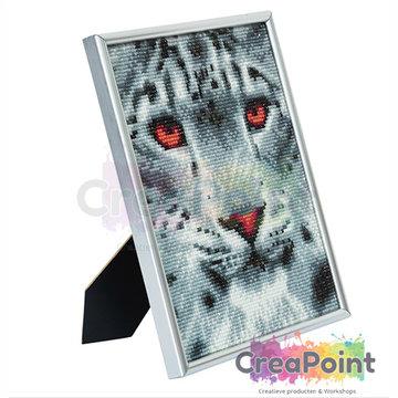 Crystal Art kit Snow Leopard 21 x 25 cm