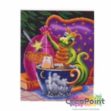Crystal Art kit Afternoon Tea Dragon 50 x 40 cm diamond painting