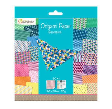 Origami papier Geometric, 60 vel 70g 20 x 20 cm - met motief