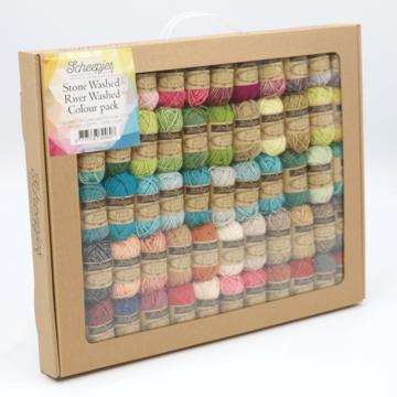 Scheepjes Stonewashed + Riverwashed Colour Pack 58 st. x 10 gram