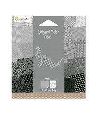 Origami Mini 12x12cm - Wit/zwart met motief