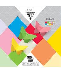 Origami papier 100 blad 20x20cm 10 tinten