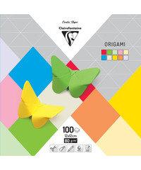 Origami papier 100 blad 12x12cm 10 tinten