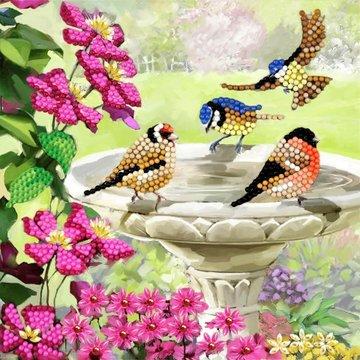 Crystal Card kit diamond painting Birds 18 x 18 cm