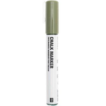 Chalk marker Krijtstift vloeibaar Olijfgroen