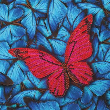Crystal Card kit diamond painting Butterfly 18 x 18 cm