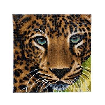 Crystal Art kit Leopard (full) 30 x 30 cm