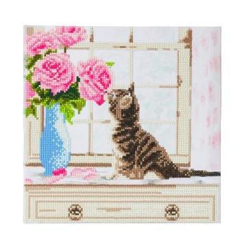 Crystal Art kit Cat (partial) 30 x 30 cm