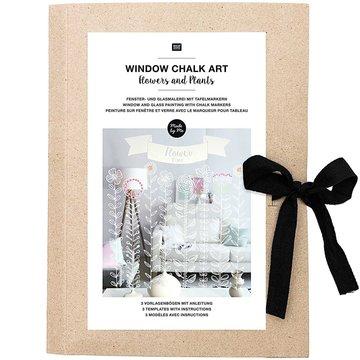 Window Chalk Art Templates 3-delig Flowers and Plants FSC Mix