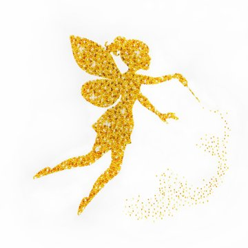 Miniart Crafts Golden Fairy 40 x 40 cm borduren met kralen