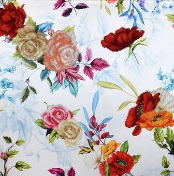 Miniart Crafts Pastel Blue Bouquets 40 x 40 cm borduren met kralen
