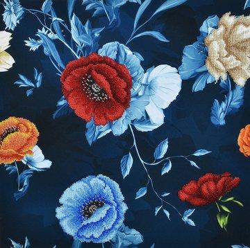 Miniart Crafts Flowers with white roses 40 x 40 cm borduren met kralen