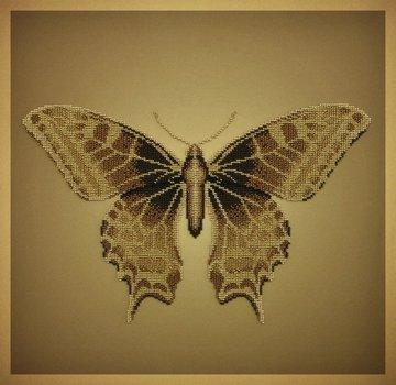 Miniart Crafts Golden Butterfly 40 x 40 cm borduren met kralen