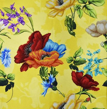 Miniart Crafts Yellow Bouquet 40 x 40 cm borduren met kralen